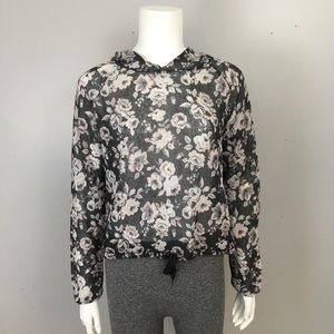 Divided H&M Floral Knit Hoodie